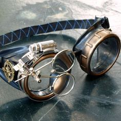 Victorian Steampunk goggles aviator by UmbrellaLaboratory on Etsy, $24.99