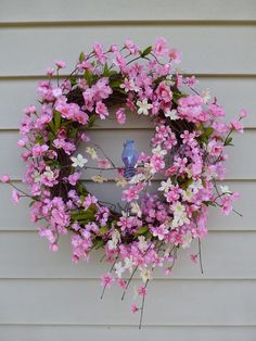 Cherry Blossom Wreath Spring Wreaths for Font Door Decorations