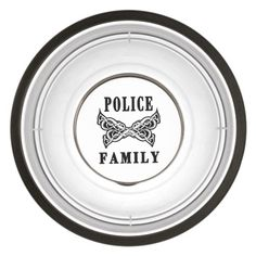 Police Family Tattoo Pet Bowl
