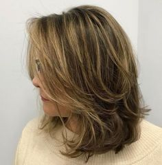 70 Brightest Medium Layered Haircuts to Light You Up - Mid-Length Layered Disheveled Hairstyle - Medium Length Hair Cuts With Layers, Medium Hair Cuts, Medium Hair Styles, Short Hair Styles, Medium Cut, Medium Layered Haircuts, Haircuts For Medium Hair, Straight Hairstyles, Mid Length Hairstyles