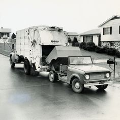 International Scout Garbage Truck | Photograph | Wisconsin Historical Society Garbage Day, Garbage Truck, International Scout, International Harvester, Scout Truck, Rubbish Truck, Equipment Trailers, Unique Cars, Historical Society