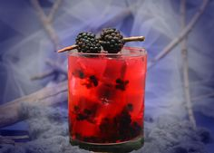upside down blackberry cocktail