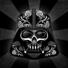 Les personnages de Star Wars version fête des morts mexicaine #09