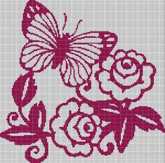 ROSES+AND+BUTTERFLY+CROCHET+AFGHAN+PATTERN+GRAPH
