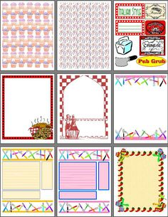 Free Printable Scrapbook Cut Outs - Bing Images Scrapbook Templates, Scrapbook Designs, Scrapbook Page Layouts, Scrapbooking Ideas, Birthday Scrapbook, Baby Scrapbook, Scrapbook Paper, Christmas Scrapbook, Printable Recipe Cards