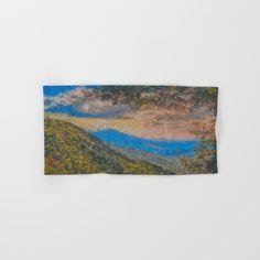 Distant Mountains Impressionistic Hand & Bath Towel