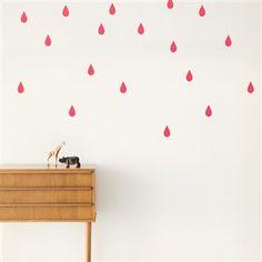 Ferm Living . Mini Wallstickers . Neon Raindrops