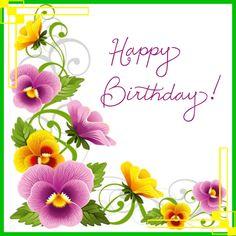 birthday flowers purple yellow