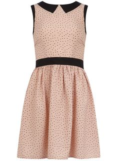 blush dress with collar.