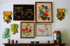 cute vintage wall decor we used to think was hideous ;)