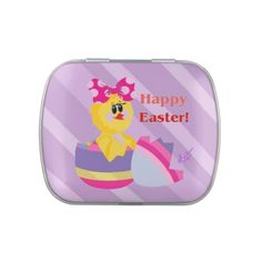 Easter Hatched Chick Candy Tin with Island Punch Jelly Bellies by #MoonDreamsMusic #CandyTin #EasterEgg #EasterChick #JellyBellies
