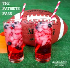 New England Patriots Themed Cocktails perfect for the big game via Giggles, Gobbles and Gulps http://gigglesgobblesandgulps.com/the-patriots-pass-new-england-patriots-themed-cocktails/