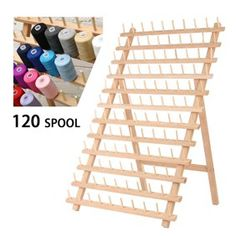 KingSo 120 Spool Wooden Bobbin Thread Rack and Organizer for Sewing Quilting Embroidery Craft Bobbin Storage, Thread Storage, Spool Holder, Thread Holder, Thread Organization, Organization Ideas, Thread Spools, Sewing Stores, Support