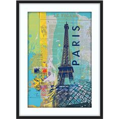 """Cities III 30"""" High Framed Paris Wall Art - #Y5761 ($200) ❤ liked on Polyvore"""