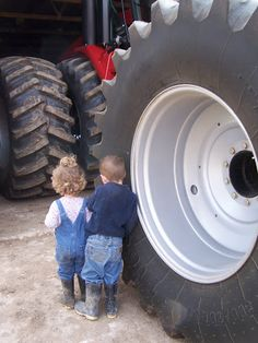 I remember being smaller than the tractor tires..