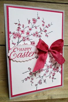 Hi there, I'm back, as promised! I have a little card today which actually uses a retired Easter stamp set as I had a request to make an. Making Greeting Cards, Greeting Cards Handmade, Handmade Easter Cards, Holiday Cards, Christmas Cards, Stampin Up, Stamping Up Cards, Cool Cards, Flower Cards