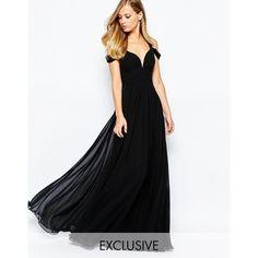 S Samt/nikki Romantisch Tfnc London Kleid Gr Schwarz