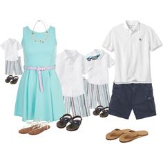 family beach photos, created by mary-wortz on Polyvore