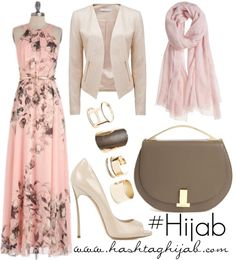 Love this pink maxi dress / Hashtag Hijab Outfit #198