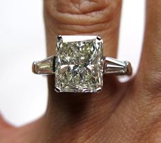 4.61ct Estate RADIANT Cut Diamond Engagement by TreasurlybyDima, $23950.00.  I think this is the one!