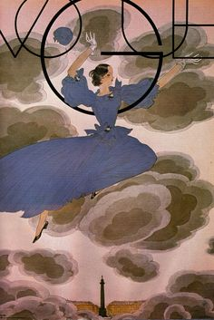 Vintage Vogue cover art by Georges Lepape. 1933