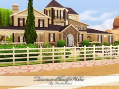 American Family Home by Pralinesims at TSR via Sims 4 Updates