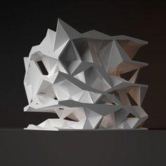 Architectural Model - Oblique Circulation Benjamin Dillenburger - Picmia