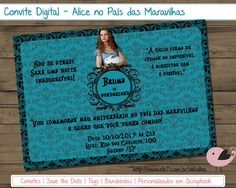 Arte Digital - Convite Alice 15 anos