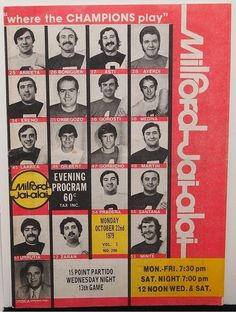 MILFORD CT Jai-Alai Program October 22 1979 - Very Good Condition | #1858762952