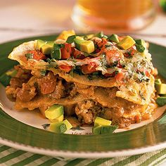 Ground Beef Recipes: Mexican Lasagna - 31 Quick Ground Beef Recipes - Southern Living