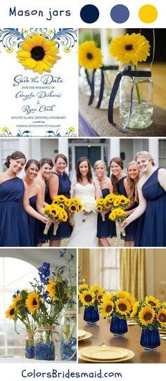 Rustic mason jars fall wedding ideas and colors