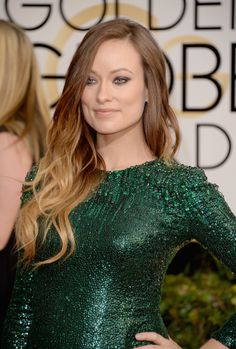 Olivia Wilde walked on the wild side at the Golden Globes with purple shadow and ombré locks