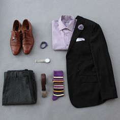 I enjoy wearing purple lately and haven't worn it in a while.  So I decided to bring it today!  What do you think?   Watch: @kaptenandson   Bracelet: @archeusdesigns   Socks: @thesouthernscholar   Belt: @ansonbelt   Pants & Shirt: @kennethcole   Lapel & Pocket Square:  @wearlapelpins   Shoes: Mercanti Fiorentini   Blazer: Claiborne #flatlay #flatlays #flatlayapp www.flat-lay.com