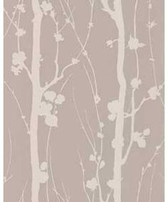 When this paper is on the wall it is like looking into an enchanted forest. The silhouettes of branch and trunk, glistening mica on a brown texture help create a feeling of inner calm and solitude. £17.99 per roll. Available at Argos.