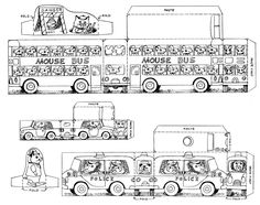 """Cut-out cars, trucks & buses by Richard Scarry.   Color, cut out and have fun.  From the book, """"Best Rainy Day Book Ever""""."""