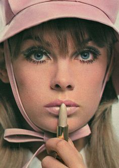 Jean Shrimpton, supermodel of the '60's. The face of Yardley Cosmetics....