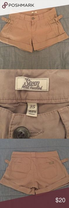 Seven For All Mankind Shorts Mint Condition, worn only 1 time! So cute for dressing up with heels and a cute top or down with flip flops. Rise is 8 inches and inseam is 3 inches 7 for all Mankind Shorts