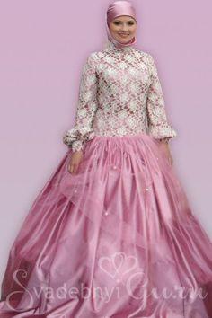 wedding hijab, Muslim wedding dress, мусульманское свадебное платье
