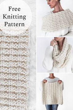 Knitting Kits, Easy Knitting, Baby Knitting Patterns, Loom Knitting, Knitting Stitches, Start Knitting, Scarf Patterns, Finger Knitting, Knitting Tutorials