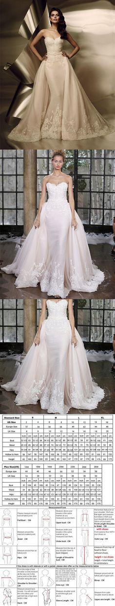 Vestido De Noiva Sereia 2016 Lace Sweetheart Wedding Dress Mermaid Detachable Skirt Wedding Dress Fashion Bow Belt Bridal Gown $266