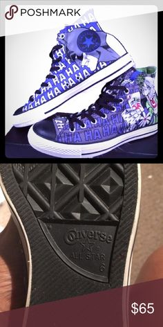 cda30080e78c Dc comics Batman and Joker converse Size 6.5 Batman and Joker converse  Converse Shoes Sneakers Joker