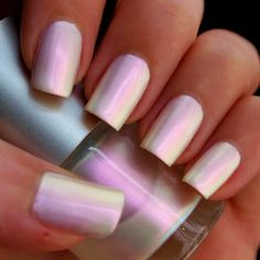 White Opal Franken Nail Polish Pearl Color With A Pink Gold Duochrome Effect