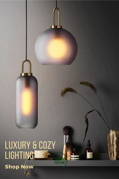 Luxury and modern look with high-quality material. Great for kitchen island, dinning room or bar. #Lighting #Homedecor #Kitchenlighting #pendantlight Modern Pendant Light, Glass Pendant Light, Glass Pendants, Pendant Lamp, Pendant Lighting, Globe Pendant, Small Pendant Lights, Hanging Lights, Wall Lights