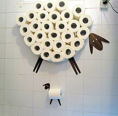Stockage et papier de toilette porte-rouleau - Sheep avec Lamb