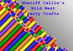 Sheriff Callie's Wild West Party Crafts-lots of ideas for you to use!