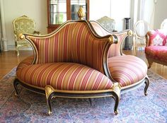 CHRISTOPHER GUY CLASSIC ROUND SOFA: I wish I owed a house with a giant foyer!