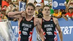 Elite triathlete drags brother over the line in touching display of sportsmanship