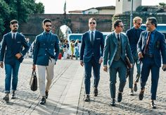 which suit suits you, Florence style at its best -- street style from the 2014 Putti Uomo menswear trade show