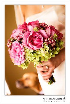 Pink+Green flower bouquet