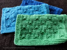 Butterfly Bowknot Knitting Dishcloth. Free Pattern #10 from KnittingUnlimited.blogspot.com
